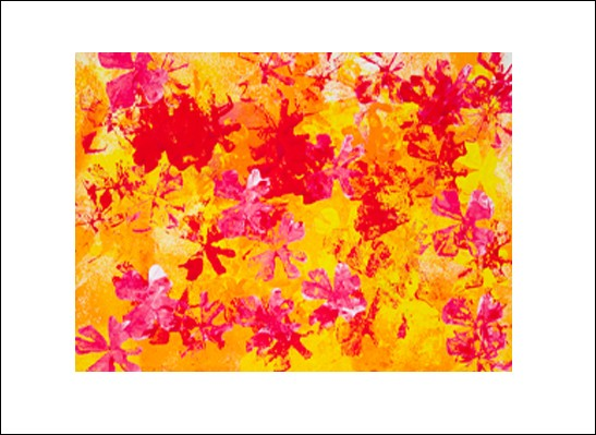 Kunstkarte Blumenfeuer