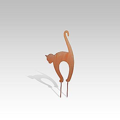 Metallfigur «Katzenbuckelkatze» klein