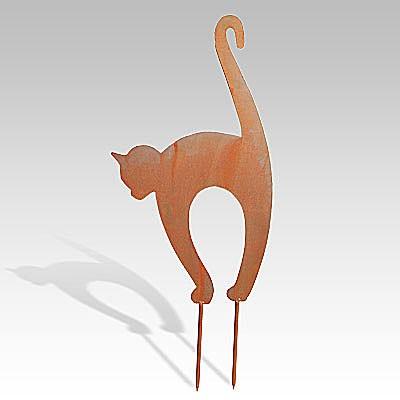 Metallfigur «Katzenbuckelkatze» gross
