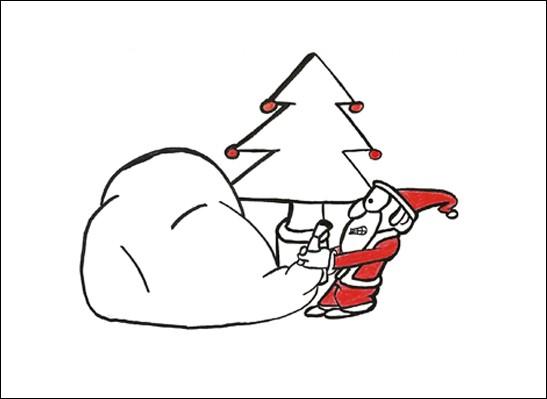 Kunstkarte Volle Weihnachten