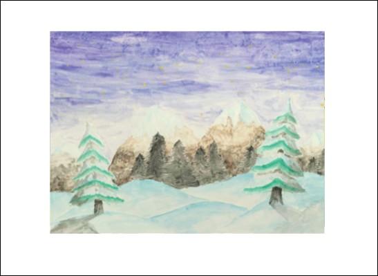 Zwei Tannen im Schnee