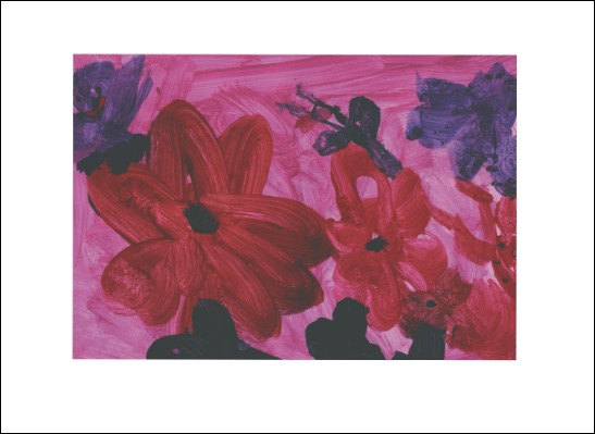 Kunstkarte Sommerblumen