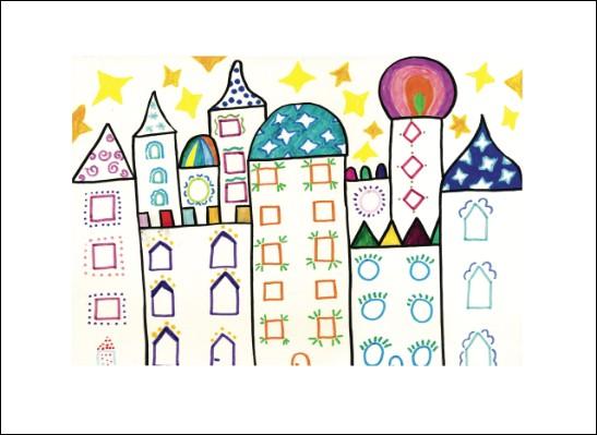 Kunstkarte 1001 Stadt
