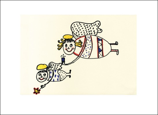 Kunstkarte Engelpaar