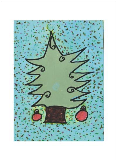 Kunstkarte Weihnachtsbaum I
