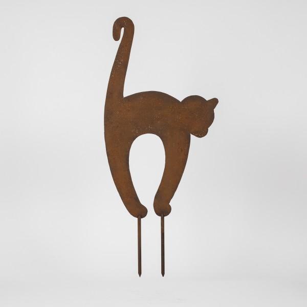 Metallfigur Katzenbuckelkatze klein