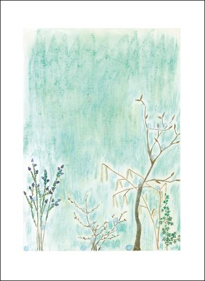 Kunstkarte Winterblüte
