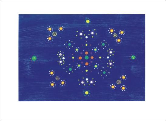 Kunstkarte Tanz der Sterne