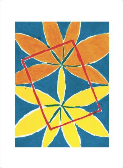 Kunstkarte Rotes Rechteck