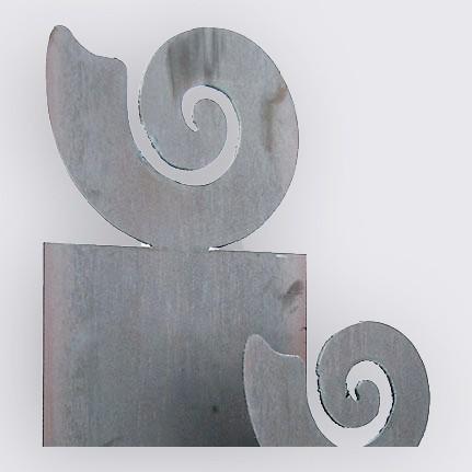 Stele «Muschel» (grosses Motiv) mit Anker