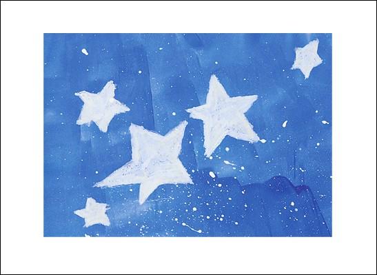 Kunstkarte Blaue Sternennacht