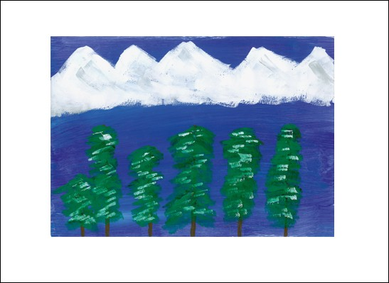Kunstkarte Blautannen
