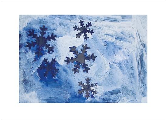 Kunstkarte Schneesterne