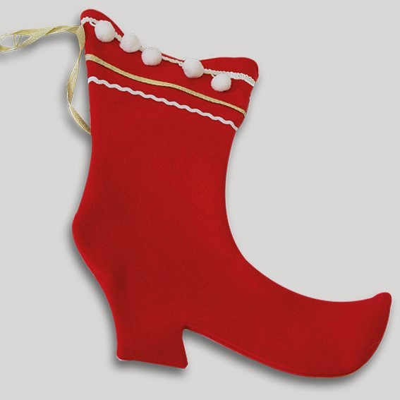 Samichlaus-Stiefel (rot)