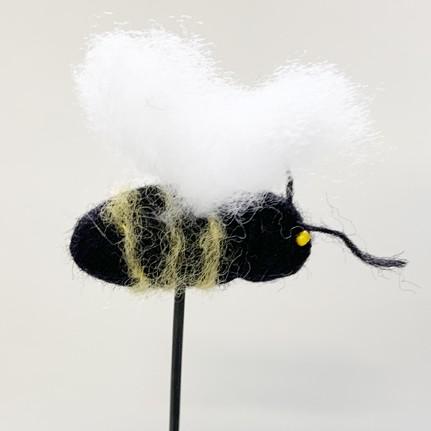 Biene Filz (schwarz)