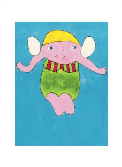 Kunstkarte Badeengel