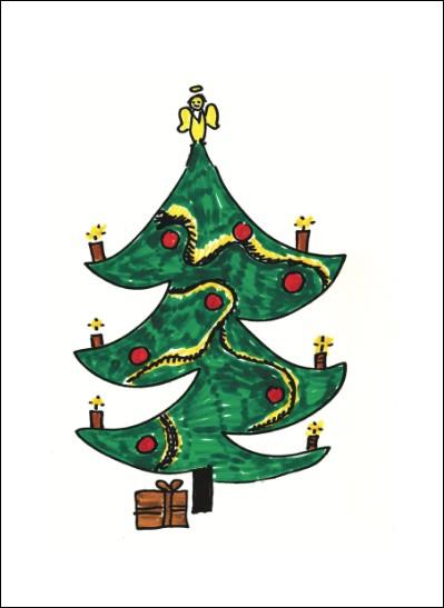 Kunstkarte Weihnachtsbaum II