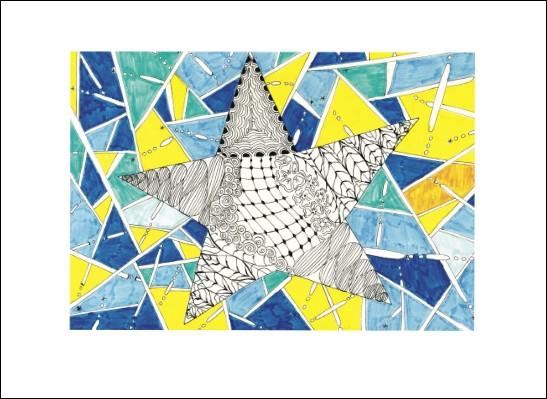 Kunstkarte Sternen-Geometrie